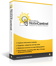 NoteControl - Research & Citation Software