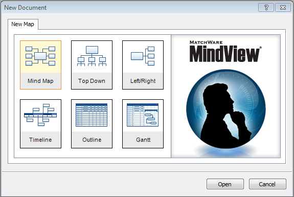 MindView Six Sigma Software 6 different views