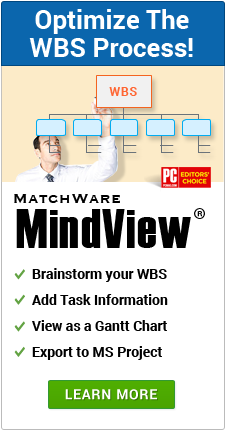 Create your WBS today with MindView
