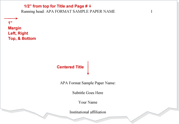 how to create a title page in apa format