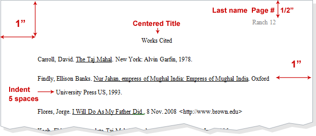If I have to do a term paper in MLA style, which requires a works cited page...?