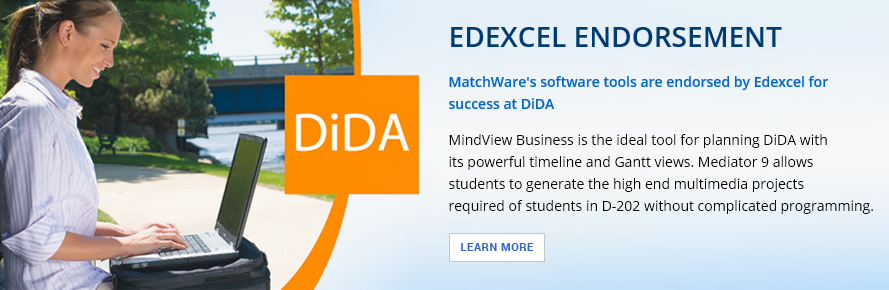 MatchWare's software tools are endorsed by Edexcel for success at DiDA