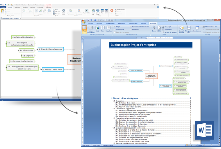 MindView mind mapping software as a productivity tool