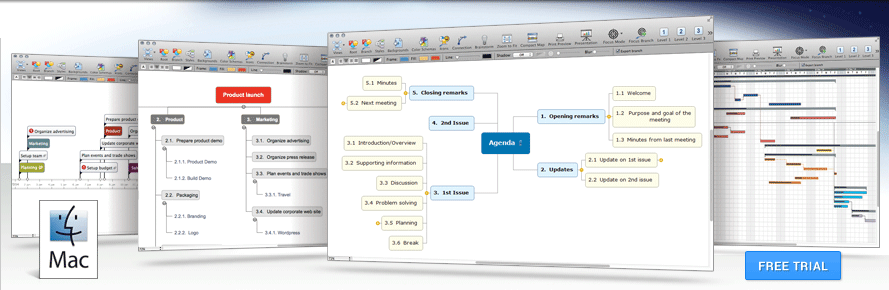 MindView Mac Mind Mapping Software Free Trial