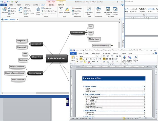 Export To Microsoft Word Concept Mapping
