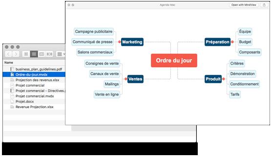 Intégration des documents MindView avec macOS