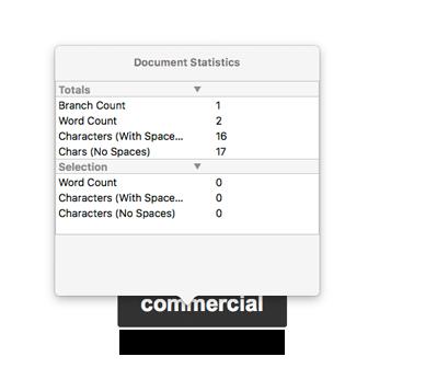 Statistiques de document