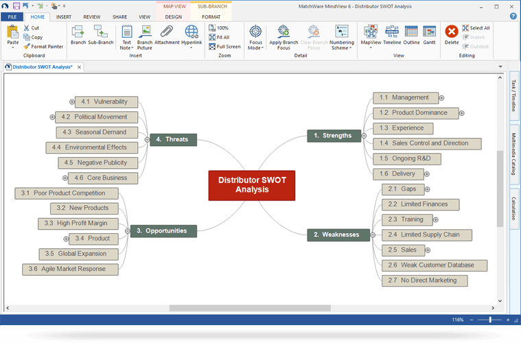 brainstorm with swot analysis software