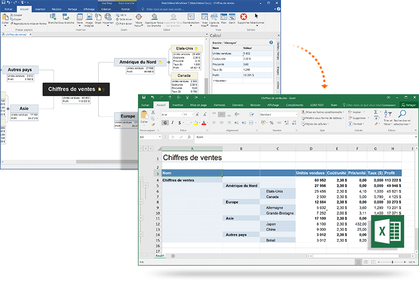 export import to excel