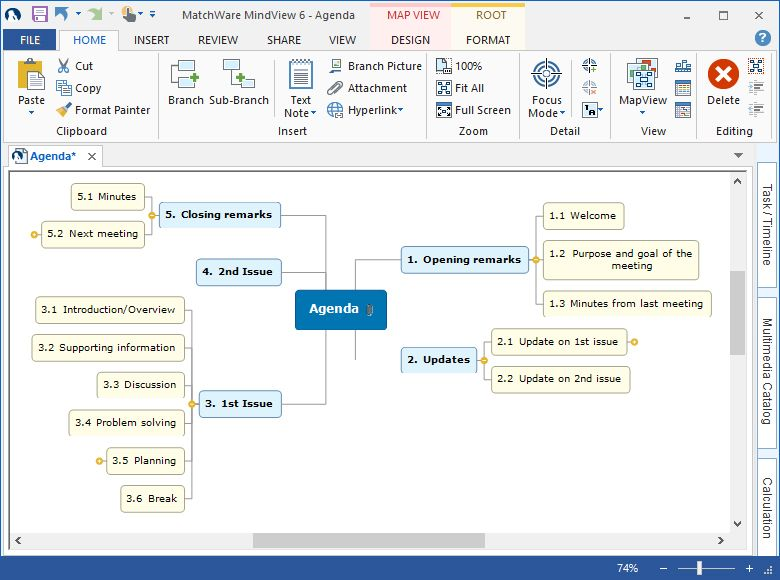mind mapping free mindview mind mapping software