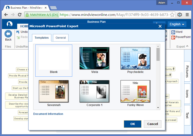 Mindview online features powerpoint export templates toneelgroepblik Image collections