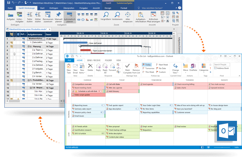 integration with microsoft outlook