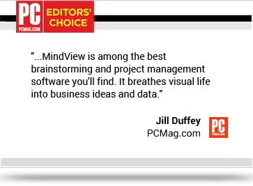Mindview is among the best brainstorming and project management software you'll find. It breathes visual life into busines ideas and data.