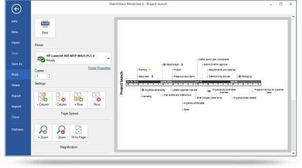 print your gantt chart project plan